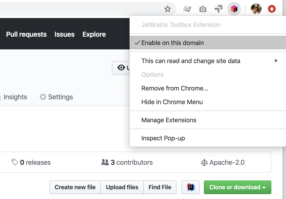 Toolbox extension at GitHub Enterprise